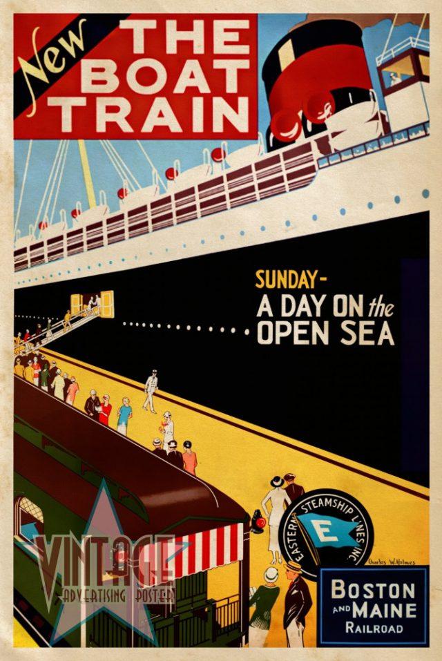 New The Boat Train - Vintage Poster - Vintagelized