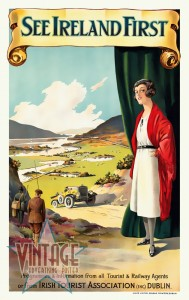 See Ireland First - Vintage Poster - Restored