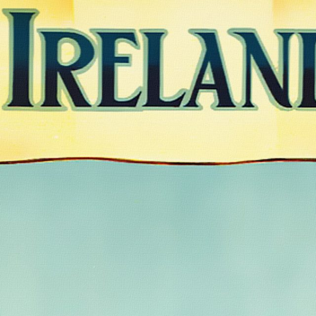 See Ireland First - Vintage Poster - Detail