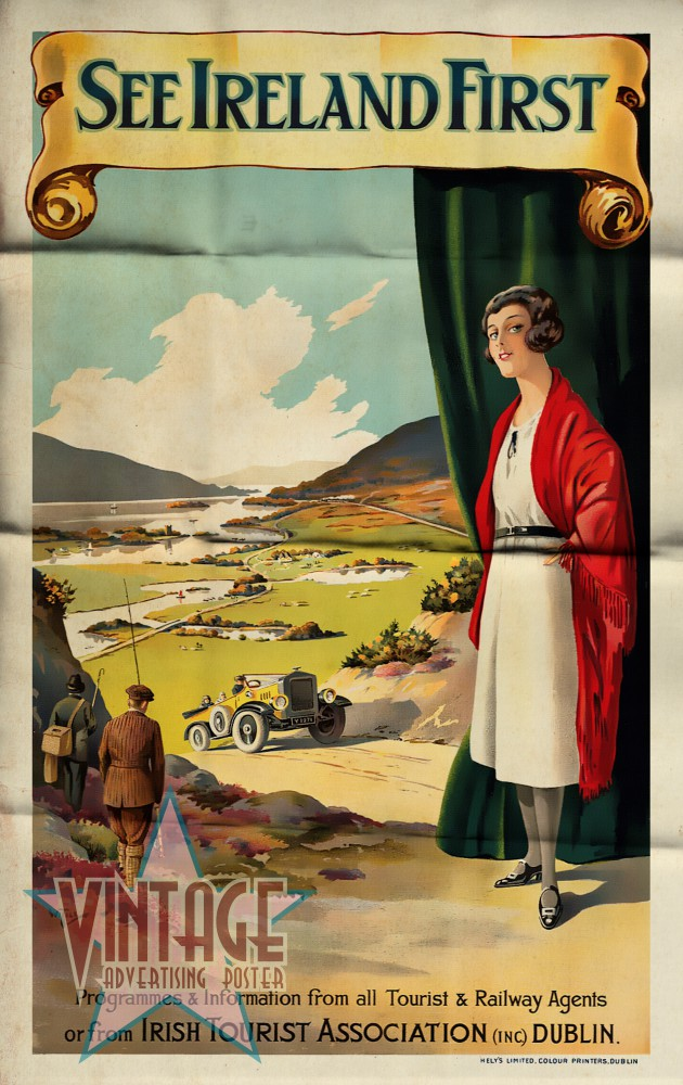 See Ireland First - Vintage Poster - Folded